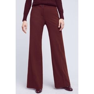 CARTONNIER Monica Flannel Wideleg Trouser Pant NWT